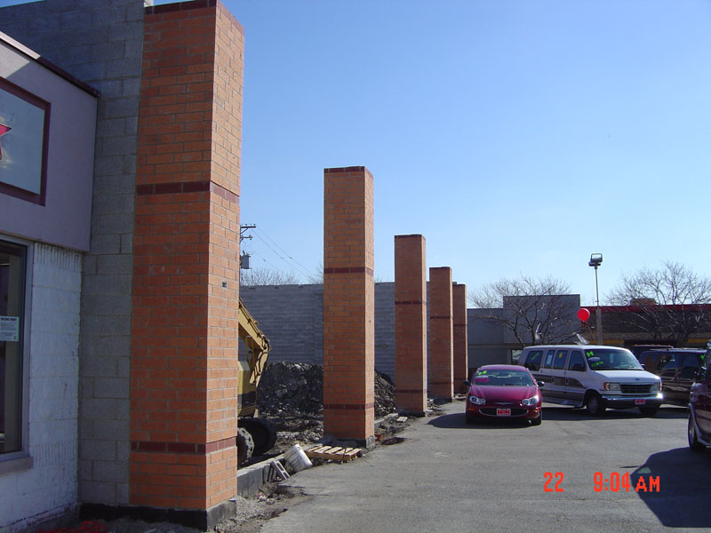 New CMU Walls and Brick Posts